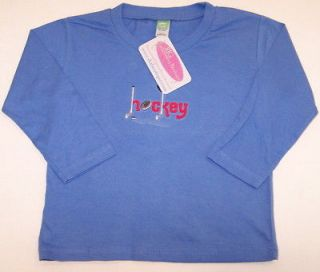 Custom Hockey Stick Gear Long Sleeve Baby Toddler Shirt