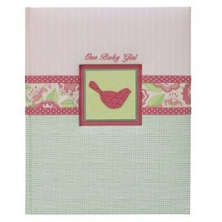 EMMA OUR BABY GIRL Pink Bird Loose Leaf Baby Memory Book NEW
