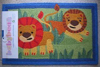Jellybean LIONS RUG Jungle WASHABLE Nursery BABY Animals Safari