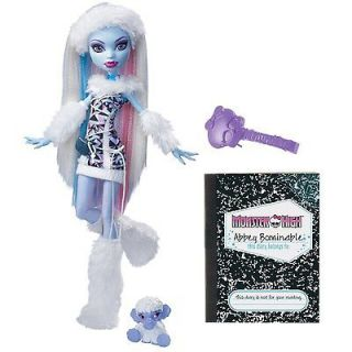 NIB* MONSTER HIGH Abbey Bominable with Shiver (Pet Wooly Mammoth)