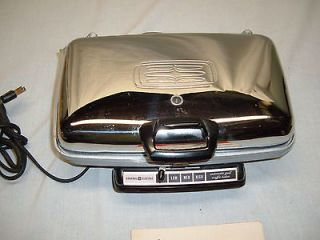 General Electric Automatic Grill & Waffle Maker Model 34 G42K w/book