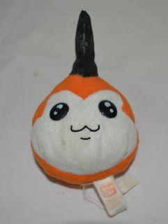 Tsunomon Digimon Ban Dai Plush Bean Bag Orange Black Stuffed