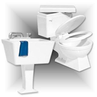 WWE Wrestling Figure Accessories Toilet & Sink Backstage Set