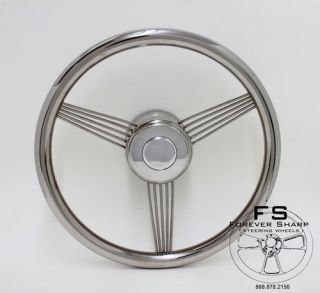 14 Stainless Steel Banjo Style Wheel Set for Rhino, Yamaha Golf Carts