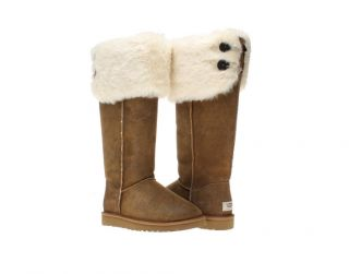 UGG Australia Over The Knee Bailey Button Chestnut Womens Winter Boots