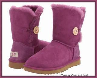 Ugg Australia Bailey Button SUGAR PLUM Boots Size 8/EU 39/UK 6.5