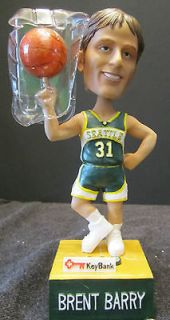 NEW IN BOX NEW BRENT BARRY SEATTLE SUPERSONICS TALKING BOBBLE HEAD