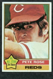 1976 Topps #240 Pete Rose   Cincinnati Reds   EX