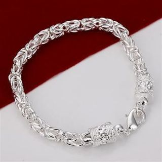 Wholesale Sterling solid silver dragon bracelet/bangle B198+gift box