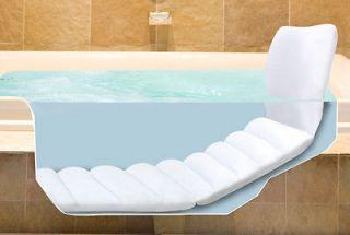 Inflatable Full Body Bathtub Lounger Cushion Comfort Cradle Head Back