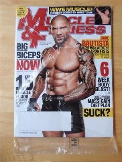 MUSCLE & FITNESS bodybuilding magazine/Wrestling WWE MMA Dave Bautista