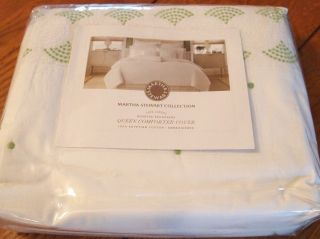 MARTHA STEWART Full Queen Duvet Comforter Cover TROUSSEAU ROSETTE