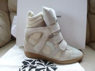 NIB Isabel Marant Bekket Bekett taupe leather/suede high top sneakers