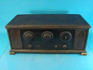 Rare Somerset 5A Early Battery Antique Tube Radio Set National