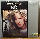 Nuts FS 87 LASERDISC LD Barbra Streisand/Richard Dreyfuss/Maureen