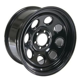 Cragar Soft 8 Black Steel Wheels 16x8 6x4.5 BC Set of 4