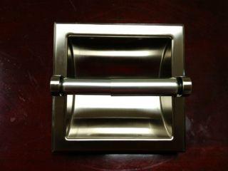 Satin Nickel Recessed Toilet Paper Holder N31 1501