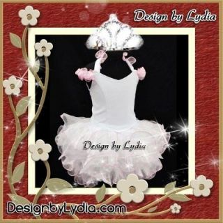 399Z CROWN   White State Little Miss America National Pageant Dress 12