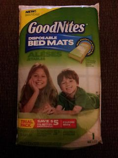 GoodNites Disposable Bed Mat ~ 1 Good Nites Bed Mat ~ Brand New in