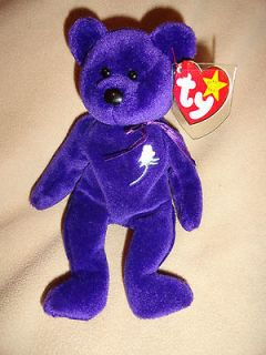 1997 TY BEANIE BABY PRINCESS BEAR PRINCESS DIANA ED W/TAG