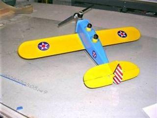 PT 19 Balsa Model Airplane 1/2 A Control Line Kit, Black Hawk Models