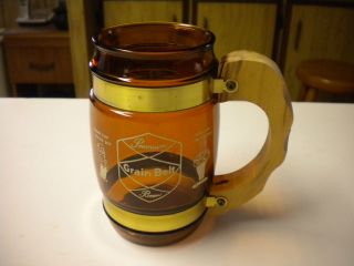 Siesta Ware Wood Handled Barrel Premium Grain Belt Beer Mug, BIN