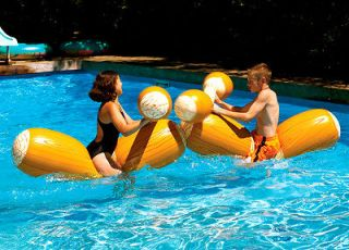 9084 Inflatable Swimming Pool Log Joust Floating Fun Toy Set Battle