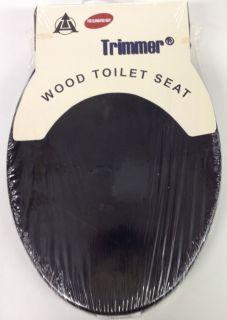 BLACK HARD WOOD ELONGATED TOILET SEAT M 70E
