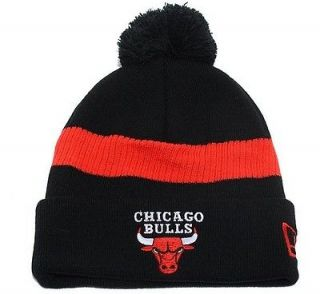 black chicago bulls beanies