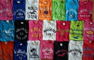 NWT Hollister by Abercrombie Women Solid Stripes Graphic Tee Shirt T