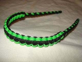 On Target Bow Wrist Sling in Black/ Neon Green for compound bows