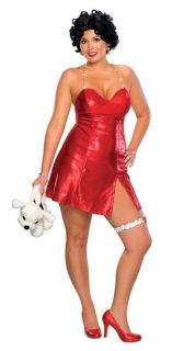 BETTY BOOP PLUS SIZE ADULT WOMENS COSTUME Halter Strap Red Dress Big