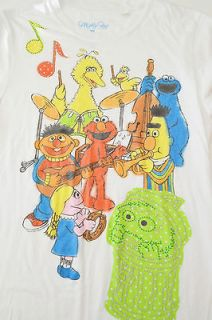 Shirt SESAME STREET Elmo Band Cookie Bert Ernie XL Extra large Womens