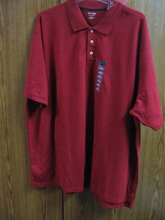 St. Johns Bay Mens 4 XL Big & Tall RED S/S Polo Shirt NEW w/TAGS