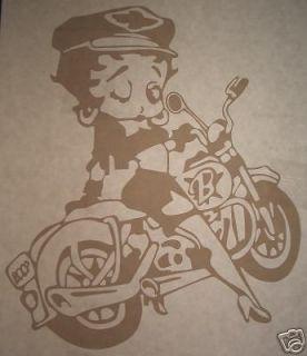 Betty Boop on Harley Motorcycle Car Truck Vinyl Decal
