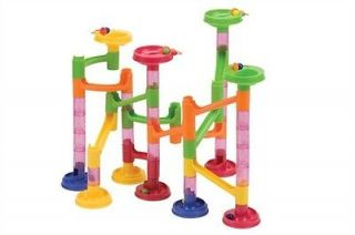 Mega Fun Classic MARBLE RUN 58 pc maze block roll race toy game set