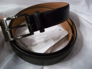 MENS NEW GEOFFREY BEENE BLACK SOFT TOUCH COWHIDE LEATHER BELT SIZE 36
