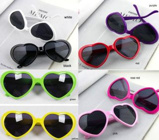 Fashion Love Sweet Heart Valentine Shaped Men Women Sunglasses 8