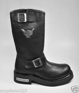 HARLEY DAVIDSON Mega Conductor Motorcycle Black Leather Boots MEDIUM