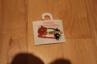 NWT Gymboree Hair Clip Alligator Pumpkin and witch halloween Fall BTS