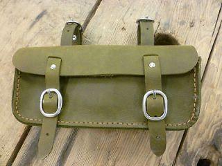Old, vintage, retro style leather bicycle tool bag, saddle bag.