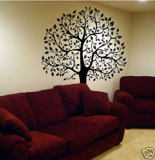 SILVER DOLLAR BRANCH BiG Wall Mural Stickers Tree Leaves Room Decor
