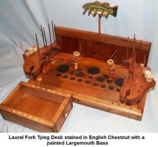 Fly tying benches desks tables table top model trout fly for Table exit fly
