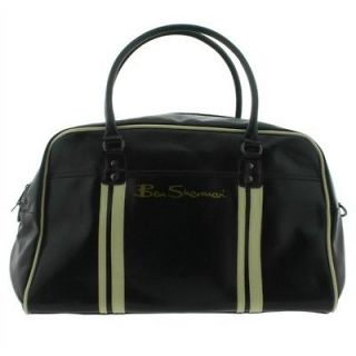 BEN SHERMAN BLACK HOLDALL BAG   SPORTS/GYM/SHO ULDER/FLIGHT   PVC