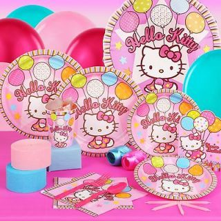 HELLO KITTY Balloon Dreams Birthday Standard Party Pack Kit for 16