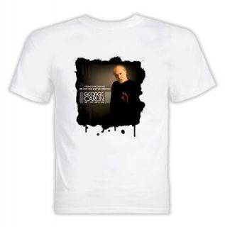 George Carlin comedian tribute 7 words white t shirt