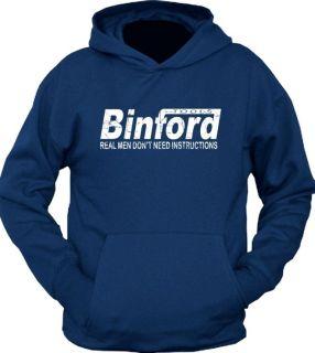 NEW BINFORD TOOLS Improvement Home Time Hoodie T Shirt