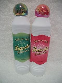 Bingo Daubers Markers Dazzle Glitter Red And Green Set Of Two 3 oz
