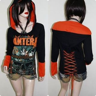 Pantera metal Rock DIY Funky Corset Hoodie Top Shirt