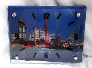 GLASS FRONTED LONDON SCENE CLOCK BIG BEN TOWER BRDIGE LONDON BRIDGE